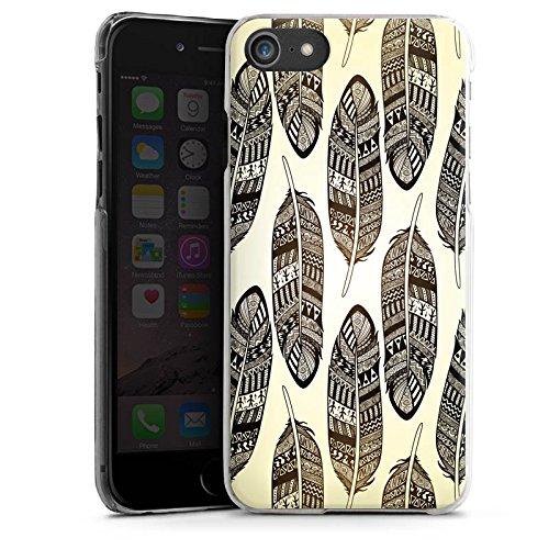 Apple iPhone X Silikon Hülle Case Schutzhülle Federn Tribal Indianer Hard Case transparent