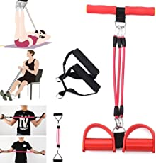 UNMCORE All in One Adjustable Pedal Resistance Streching Latex Handle Rope for Arm Leg Situps Abdominal Workout (Multicolour, UNM-GYM-BAND-MC)