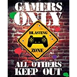 GB eye Gamers Only, Controller Keep Out, Mini Posters (40 x 50cm)