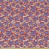 ABAKUHAUS 4. Juli Microfaser Stoff als Meterware, Flagge