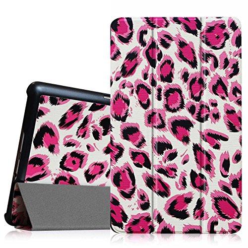 Fintie Samsung Galaxy Tab S 8.4 Hülle Case - Ultra Schlank superleicht Ständer SlimShell Cover Schutzhülle Etui Tasche mit Auto Schlaf/Wach Funktion, Leopard Magenta