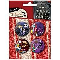 Nightmare Before Christmas - Badge Set Jack Sally (in 3,8 cm)