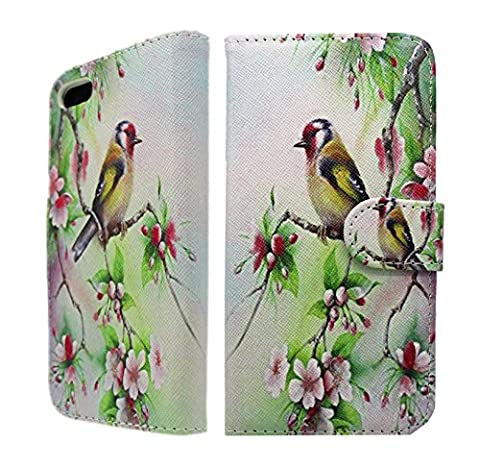 NWNK13® iPhone 4 / 4G / 4S Print Pu Leather Flip Case Cover Plus Stylus Pen, Screen Protector & Polishing Cloth ( Bird )