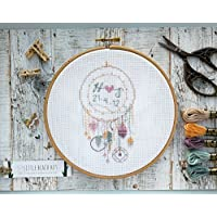Cross stitch kit, dream catcher, personalised wedding gift, embroidery kit, gifts for couples, love