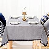 Einfache, moderne Gestreifte normale Tabelle Tuch Baumwolle und Leinen Tischdecke Tv Cabinet Cover-D 110 x 160 cm (43 x 63 Zoll)