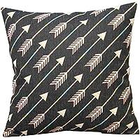 hellodd semplice stile frecce morbido misto cotone lino throw pillow case Decor Cuscino quadrato copre 45,7x 45,7cm 45x