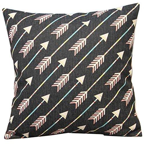 Ourbest Simple Style arrows morbido cotone misto lino throw Pillow case Decor Cushion Covers Square 45,7x 45,7cm 45x 45cm