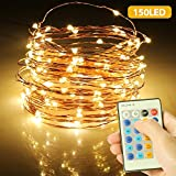 Guirlande Lumineuse, Fairy String Lights 150 LED 15M Fil de...