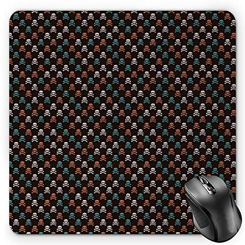 Candy Cane Mouse Pad, Yummy Sweet Lollipop Candy Macaroon Cupcake and Donut on Polka Dots Pattern Gaming Mousepad Office Mouse Mat Multicolor