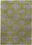 Designer Teppich Grand Green geometrisches Muster Stern grau grün weich pflegeleicht strapazierfähig für Wohnzimmer, Schlafzimmer, Arbeitszimmer, Jugendzimmer und Küche (160 x 230 cm)