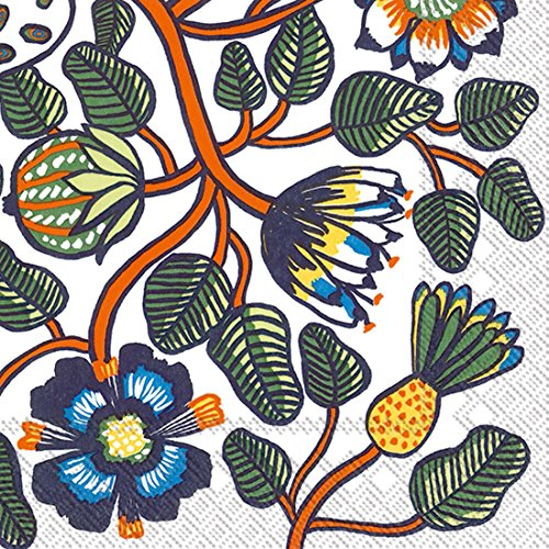 Ideal Home Serie c606017 Marimekko 20 Zählen Papier Cocktail Servietten, Tiara, orange (Fallen Pappteller Und Servietten)