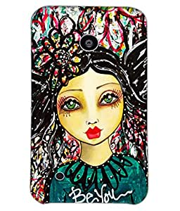 Fuson Colorful Pattern Girl Back Case Cover for NOKIA LUMIA 530 - D3861