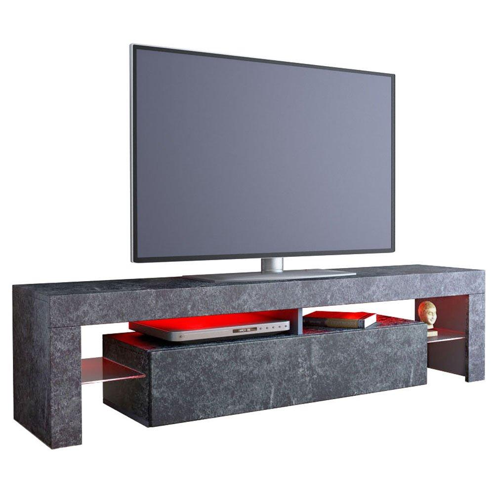 Tv Cabinet Lima Rock In Slate Grey Vladon Amazon Co Uk Kitchen  # Kikua Meuble Tv