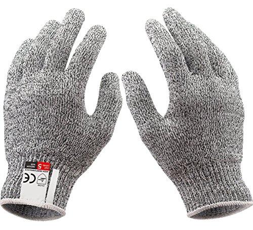dingsheng Schnittfest Handschuhe mit Grip Dots–High Performance Level 5Schutz, Lebensmittelqualität Large