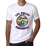 MUSH T-Shirt avec imprim/é Los Pollos Hermanos inspir/é de la s/érie TV Breaking Bad