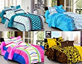 Ahmedabad Cotton Basics Cotton Double Bedsheet Combo - 4 Bedsheets & 8 Pillow Covers