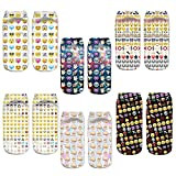 LegendsChan - Calcetines - para mujer multicolor Emoji 6 pack-D