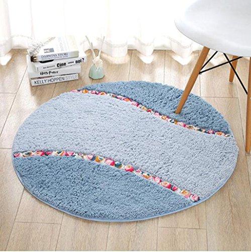 Teppich Runde computer stuhlmatten drehstuhl korb kissen wohnzimmer schlafzimmer wildleder rutschfeste runde teppich Bettmatten ( Farbe : #3 , größe : 70×70cm )