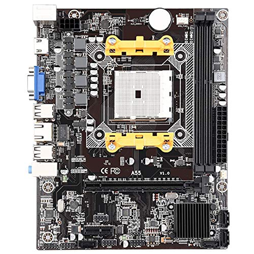CUHAWUDBA A55 FCH Socket FM1 Placa Base Micro-M-ATX