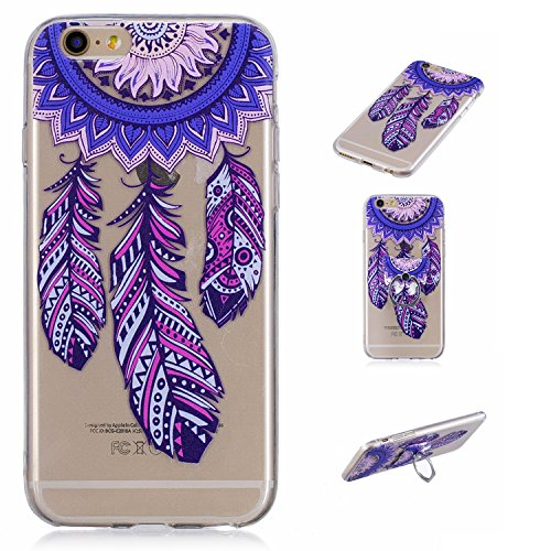 Cover iPhone 6S Case iPhone 6 Custodia Spiritsun Moda Ultraslim Silicone Soft TPU Case Cover Case Elegante Souple Flessibile Liscio Copertura Perfetta Protezione Shell Morbido Handy Candy Custodia Per Carillon blu