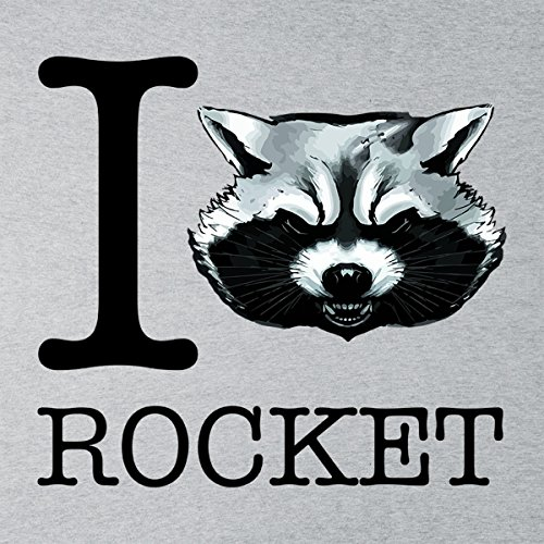 Guardians Of The Galaxy I Heart Rocket Raccoon Men's T-Shirt Heather Grey