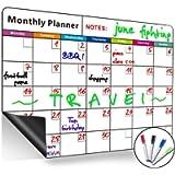 Lavagna magnetica con calendario mensile, cancellabile a secco, grande, multifunzione, bianca, organizzatore settimanale…