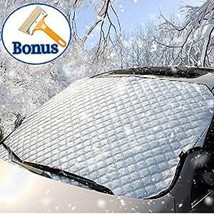 couvre neige de protege pare brise couverture de neige paissie avec le grattoir de. Black Bedroom Furniture Sets. Home Design Ideas