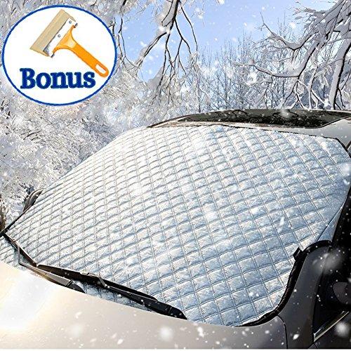 Preisvergleich Produktbild Windschutzscheiben-Schneedecke, verdickte Schneedecke mit Eisschaber-Bonus Frost & Ice Windschutzscheiben-Schutz winddicht für vier Jahreszeiten, passend für die meisten Fahrzeuge 160cm x 110cm / 62.9