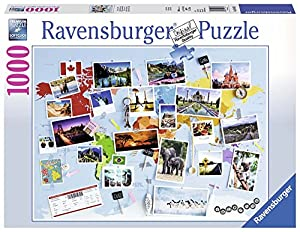 Ravensburger - Puzzle Viaje Alrededor del Mundo, 1000 Piezas (19643)