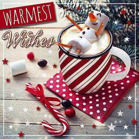ische Weihnachten Karte-Marshmallow Schneemann ()
