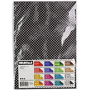 16 sort Color Bar Papiersortiment Blatt Gemustert A4 21x30 cm