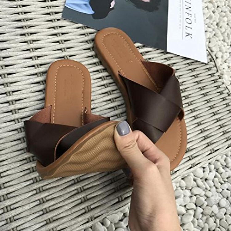 ll chaussures chaussures chaussures sandales en été nouvelle des sacs la nouvelle été version coréenne simple mot groupe open toe flat tong... 6e8849
