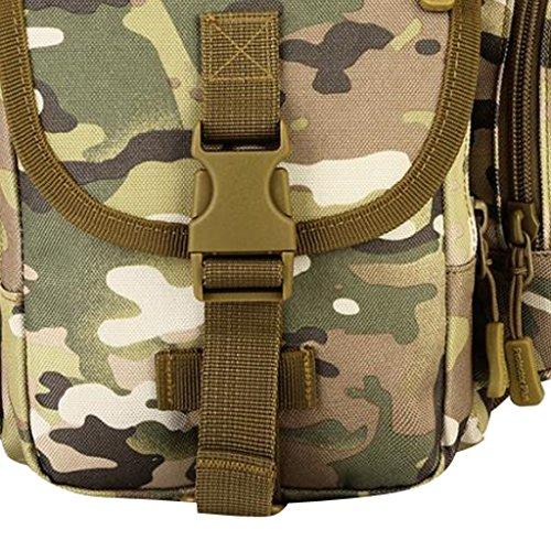 MagiDeal Taktische Militärische Umhängetasche Kamera Tasche Sling Bag Crossbody Bag Herren Schultertaschen CP Camo