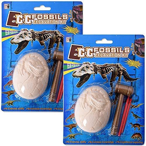 TE-Trend 2 Piezas Fabricar Arqueología Set de Excavación Dinosaurio Ausgrabung Hammer Cincel Piedra 9cm Niños Juguete