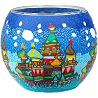 Him Moscow - Portavelas candelabros de Cristal, 9 x 11 cm, Color
