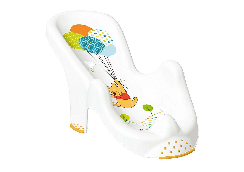 Baby Bath Tub XXL 100 cm Including Stand, Bath Seat and Wash Mitt [White in Disney Winnie the Pooh Design]