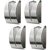 Self Adhesive Towel Holders, Hook Rack Towel Hangers Hand Towel Hook Tea Towel Holders for Bathroom Kitchen(4 Pieces)