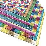 Glänzend Superfine Glitzer Leder Stoff Star Pailletten Leinwand Rückseite Craft DIY Craft verschiedene Farben für Nähen DIY Handarbeiten Projekte Star Sequins