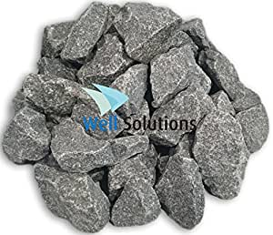 WelaSol Aufguss Saunasteine geprüfte und vorgewaschene Premium Olivin-Diabas Steine für Sauna Ofen ca. 19-20 kg