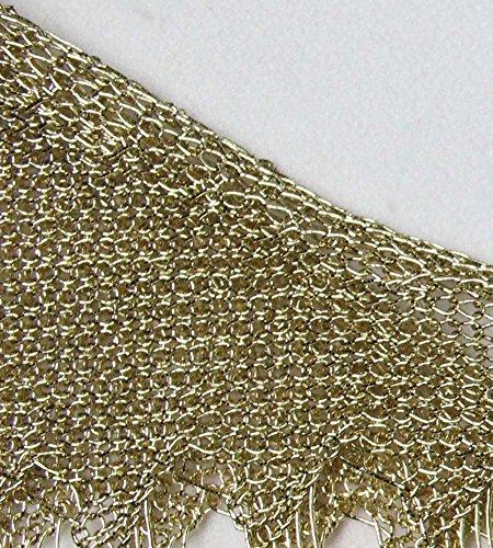 Minetom Donna Estate Copricostumi Casual Maglia Abito Hollowed Dress Spiaggia Costume da Bagno Beachwear Maxi Vestiti Oro