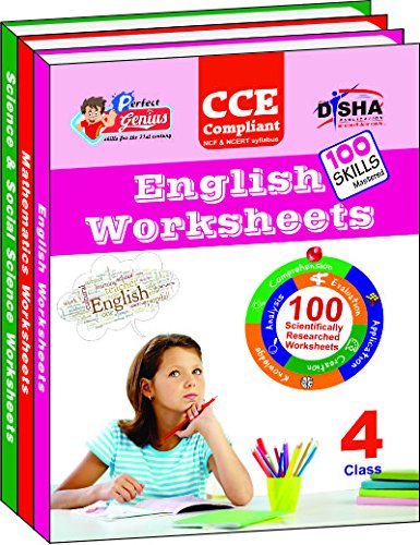 Perfect Genius English, Mathematics, Science & Social Science Worksheets for Class 4 (Based on Bloom's taxonomy)
