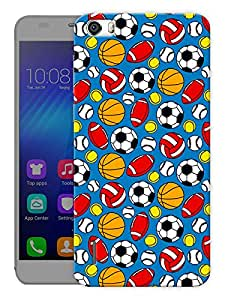 """Humor Gang Game Balls Pattern Printed Designer Mobile Back Cover For """"Huawei Honor 6"""" (3D, Matte Finish, Premium Quality, Protective Snap On Slim Hard Phone Case, Multi Color)"""