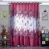 Vorhänge ösen Wohnzimmer Modern Jamicy® 100 x 250cm Neu Mode Auto Transparent Orientalisch Muster Blume Fenster Gardinen Deko Für Schlafzimmer Kinderzimmer Jungen (A)