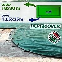 Telo di copertura invernale per piscina 12,50 X 25 mt - completo di borchie ed elastico