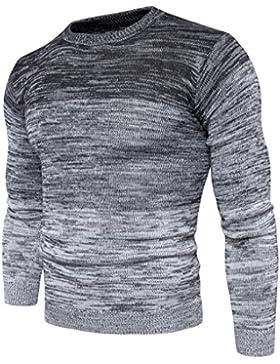 MEI&S Los Hombres sudadera Pullover color degradado aleta puente de tejer