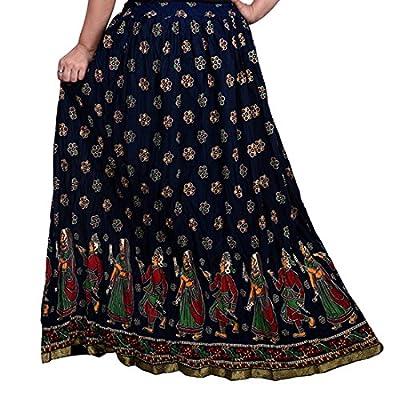 Decot Paradise Women's A-Line Skirt (DL3139_Black_Free Size)