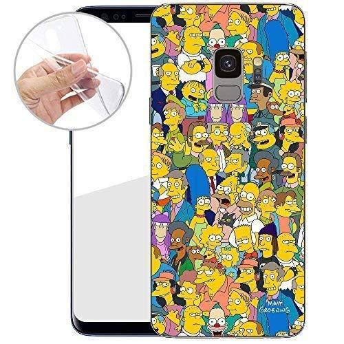 TPU Handyhülle für Dein Samsung Galaxy S9 von finoo Made In Germany Hülle mit Motiv für Optimalen Schutz Silikon Tasche Case Cover Schutzhülle für Dein Samsung Galaxy S9 - Simpsons Charaktere 01 - Charakter Tasche