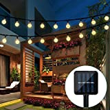 Solar String Lights Garden, 20 Ft 30 Crystal Balls Waterproof LED Fairy Lights, 8 Modes Solar Powered Lights, Decorative Lighting for Home, Garden, Party, Festival