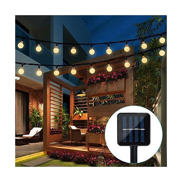 Solar String Lights Garden, 24 Ft 30 Crystal Balls Waterproof LED Fairy Lights, 8 Modes Outdoor Solar Powered Lights…