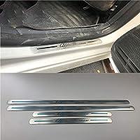 SLONGK 4 Pezzi Adesivi Protezione soglia Auto portiera Auto in Fibra di Carbonio Decalcomania Scuff Piastra Accessori Auto Tuning per Audi a4 b9 b8 b7 b6 b5